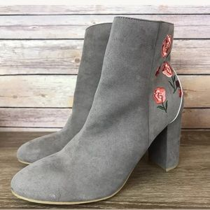Report Boho Floral Ankle Boots, Size 11